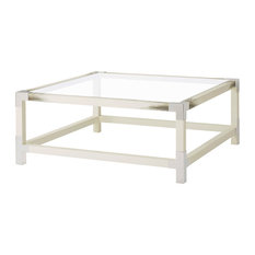 Cutting Edge Longhorn White Faux Horn Square Coffee Table