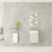 "18"" Gavle White Wall Mounted Single Bath Vanity with Acrylic Top"