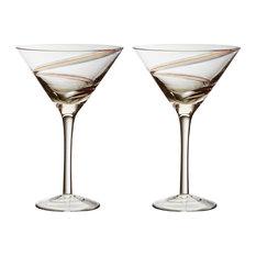 Anton Studios - Anton Studio Arc Cocktail Glasses, Set of 2 - Cocktail Glasses