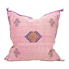 "Sous Moroccan Cactus Silk Pillow, 20""x20"", With Insert"