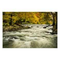 """""""Hoopes Falls in the Autumn"""" Landscape Photo Unframed Wall Art Print, 16""""x20"""""""