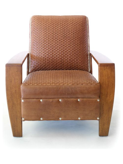Adirondack Buffalo Leather Chair   Armchairs And Accent Chairs