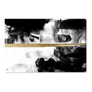 """Halfway Black and White"" Canvas Art Print, 60x40 cm"