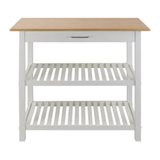 Kitchen Island With Solid Wood White