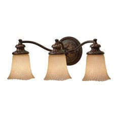 Feiss 3-Light Grecian Bronze Vanity Strip