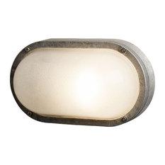 Oval Aluminium Bulkhead Light, G24 Fitting