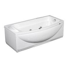 "Aston 5.6"" ft. Whirlpool Bath Tub, White, Left Drain"