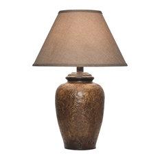 Viga   Yuma Stucco Pattern Table Lamp With Shade   Table Lamps