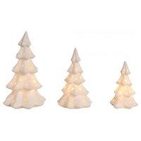 Porcelain Light Up Trees Decor Set