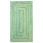 """Capel Rugs - Waterway Concentric Braided Rectangle Rug, Green, 1'8""""x2'6"""" - Reversible and durable, Capel braids are a hallmark of American tradition. Features: Construction: Braided Country of Origin: USASpecifications: Pile Height: 3/8"""" - 1/2"""""""