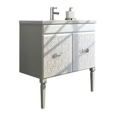 "Venice 32"" White Luxury Bathroom Vanity With White Porcelain Integrated Sink"