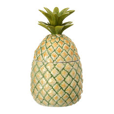 Pineapple Jar With Lid, 9""