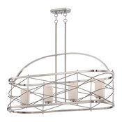 Nuvo Lighting 60/5334 Ginger Pendant Light In Brushed Nickel