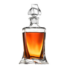 Glass Whiskey Liquor Decanter, Weighted Bottom