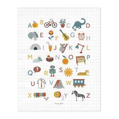 "Lilipinso ""Alphabet"" Art Print, 40x50 cm"