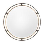 Uttermost Carrizo Bronze Round Mirror