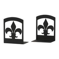 Fleur-de-Lis Bookends, Set of 2
