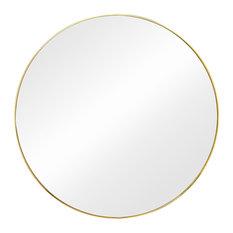 """Hubba Mirror 34"""", Brass"""