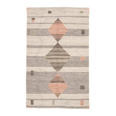 Jaipur Living Meyer Handmade Geometric Gray/Pink Area Rug, 2'x3'