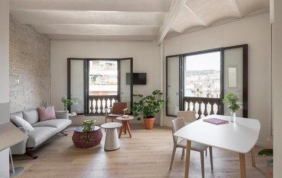 Antes y después: Un práctico piso de líneas limpias en Barcelona