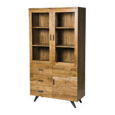 Simply Casa - Augusta Industrial 3-Door Display Cabinet - Display Cabinets u0026 Dressers  sc 1 st  Houzz & 50 Most Popular Contemporary Display Cabinets and Dressers for 2018 ...