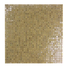 Miseno MT-COMET5/16SQ Comet - Glass Visual - Wall Tile (Sold by - Gold Vein