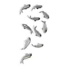 Silver Leaf 'Koi' Wall Play, Set of 10