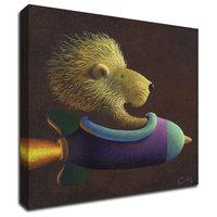 "Rocket Lion by Chris Miles, Print on Canvas, 16""x16"""