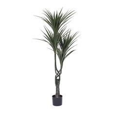 48'' UV Resistant Plastic Giant Yucca Tree With 124 LVS, Green