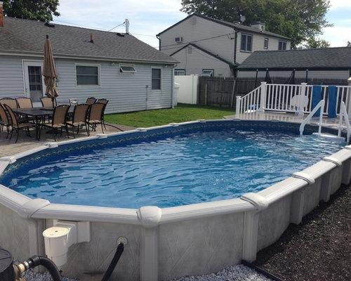 12x24 Semi Inground Pool