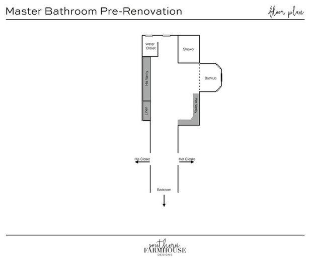 Floor Plan Tomball Farmhouse Bathroom