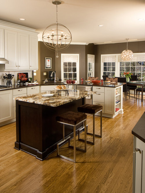 dark cabinets kitchen taupe kitchen ideas pictures remodel and decor 3088