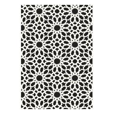 Schumacher Agadir Screen Printed Wallpaper, Noir, Double Roll