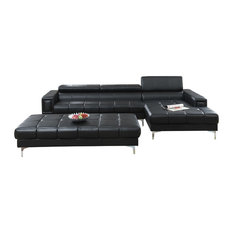 Trapani 2 Pieces Sectional Sofa Upholstered in Bonded Leather
