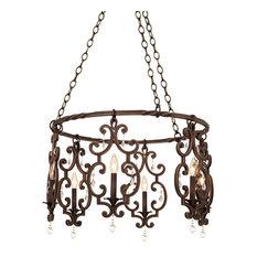 Kalco Lighting Montgomery 6-Light Chandelier, Antique Copper