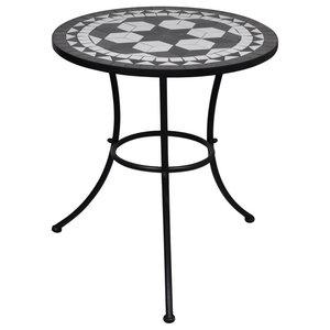 VidaXL Mosaic Table, Black and White, 60 cm