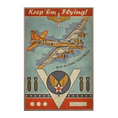 B-17 Flying Fortress, Birch Wood Print