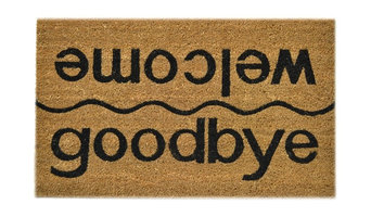 """Welcome and Goodbye"" Doormat"