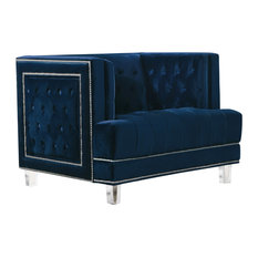 Lucas Navy Velvet Chair