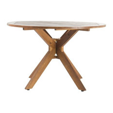 GDF Studio Stanford Outdoor Acacia Wood Round Dining Table