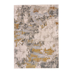 Weave & Wander Vanhorn Rug, Gold and Birch, 8'x11'