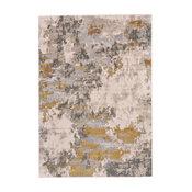 "Weave & Wander Vanhorn Rug, Gold and Birch, 10'x13'2"""