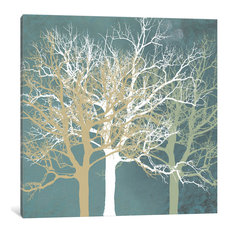 """""""Tranquil Trees"""" Wrapped Canvas Art Print, 26x26x0.75"""