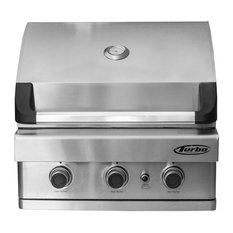 Barbeques Galore - Turbo 3-Burner Built-In Gas Grill, Propane - Outdoor Grills