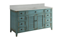 """60"""" Attractive Cottage-Style Abbeville Single Sink Bathroom Vanity"""