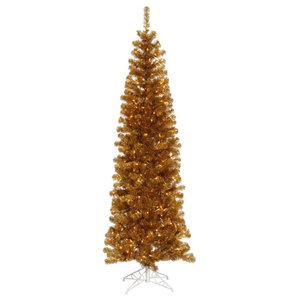 7 5 X34 Pre Lit Champagne Gold Christmas Tree Contemporary
