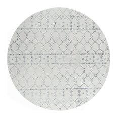 Ayden Transitional Geometric Cream Round Area Rug, 8' Round