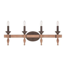 Craftmade Glenwood 4-Light Aged Bronze and Distressed Oak Vanity Light