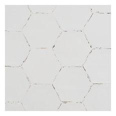 "Alexandria 5.5""x6"" Porcelain Floor and Wall Tile, White"