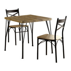 Benzara, Woodland Imprts, The Urban Port   Industrial Style 3 Piece Dining  Table